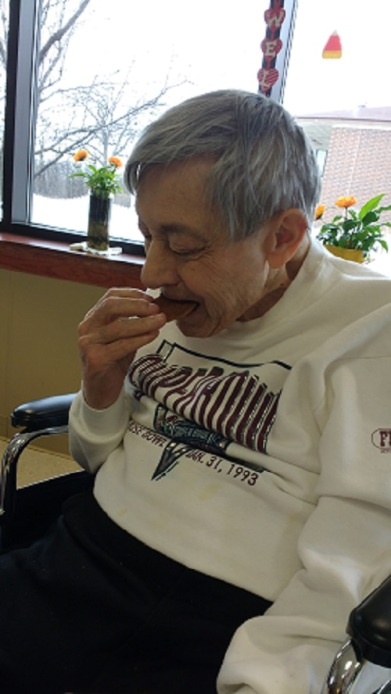 Dad and chocolate chip cookie Feb 2016