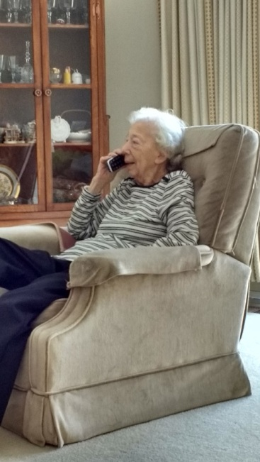 Mom on phone with Jerry Feb. 2016