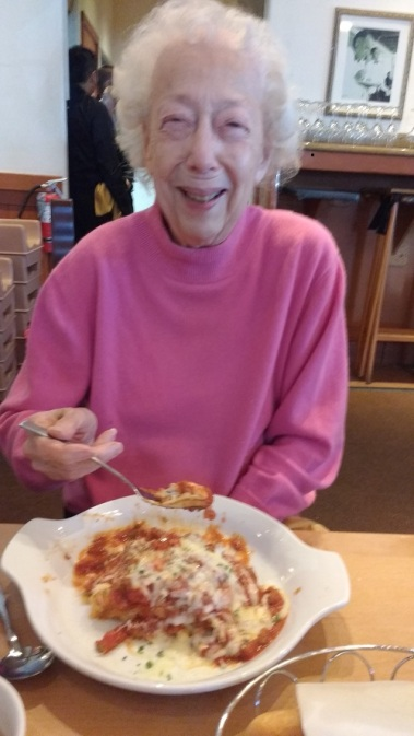 Mom Mother's Day 2016 first visit at Olive Garden Gurnee, IL