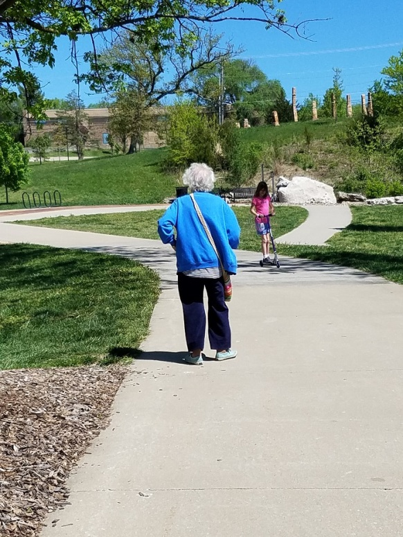 Mom attempting to walk back to Illinois from Stephens Lake Park April 2017