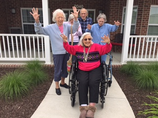 Mom and neighbors at the Arbors Mill Creek Village June 2017