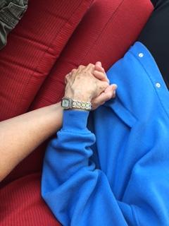 Mom holding Mary Kay's hand spring 2017