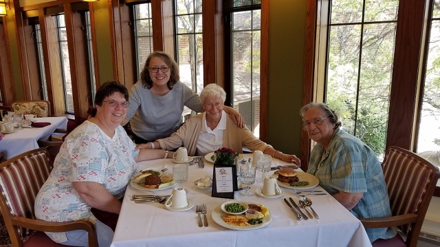 Jenny, Judy, Sister Margo and Betty Sept 2017