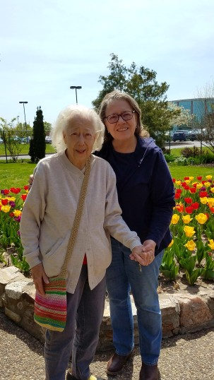 Mom and me Shelter Gardens spring 2018
