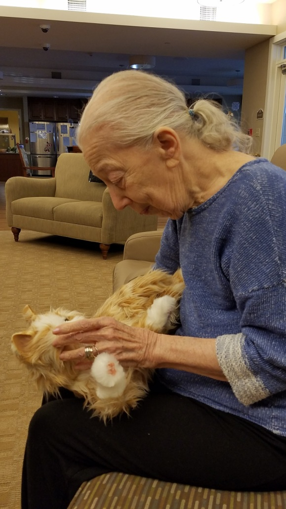 Mom and cat dec 2019